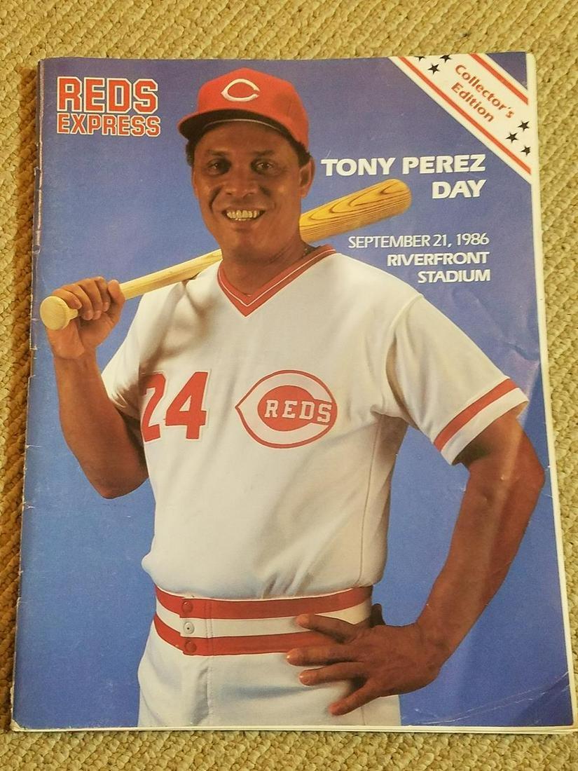 Cincinnati Reds Ephemera, w/ Tony Perez Day Program and