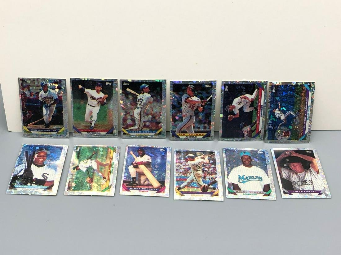 1993 Topps Micro Prism Inserts Complete 12 Card Set -
