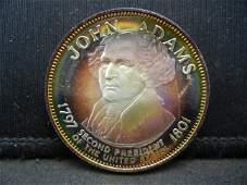 Franklin Mint John Adams .925 Sterling Silver 500