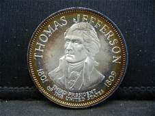 Franklin Mint Thomas Jefferson .925 Sterling Silver 500