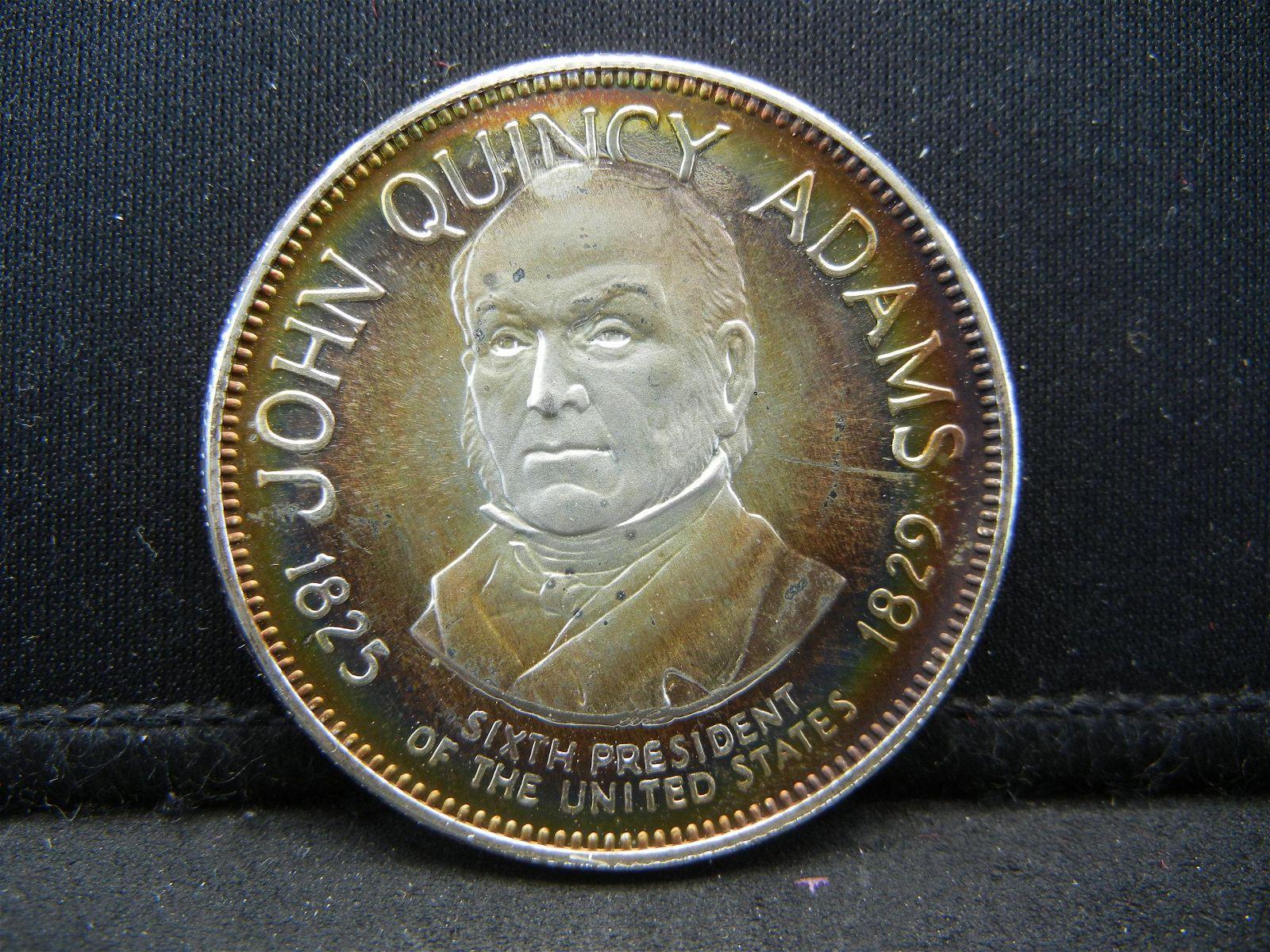 Franklin Mint John Quincy Adams .925 Sterling Silver