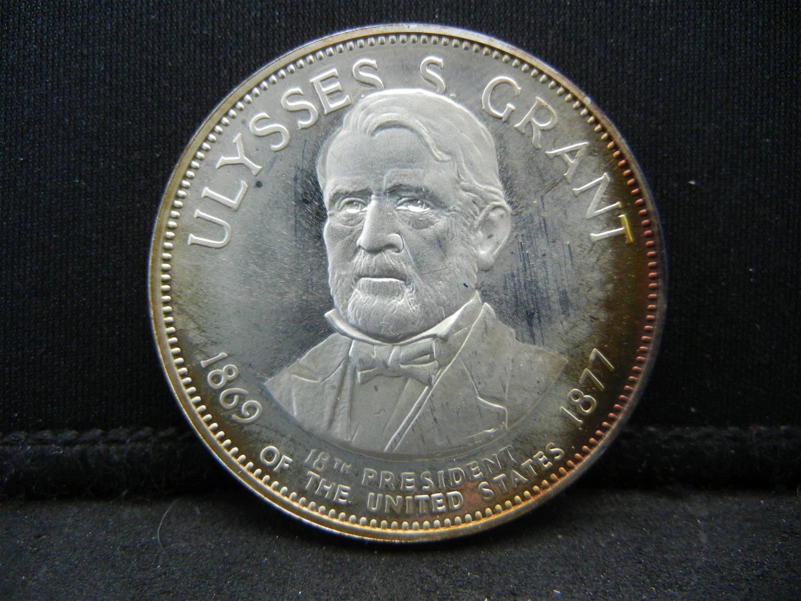 Franklin Mint Ulysses S. Grant .925 Sterling Silver 500