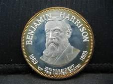 Franklin Mint Benjamin Harrison .925 Sterling Silver
