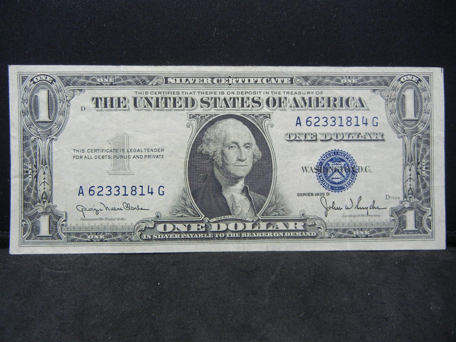 1935 D $1.00 Silver Certificate Higher Grade