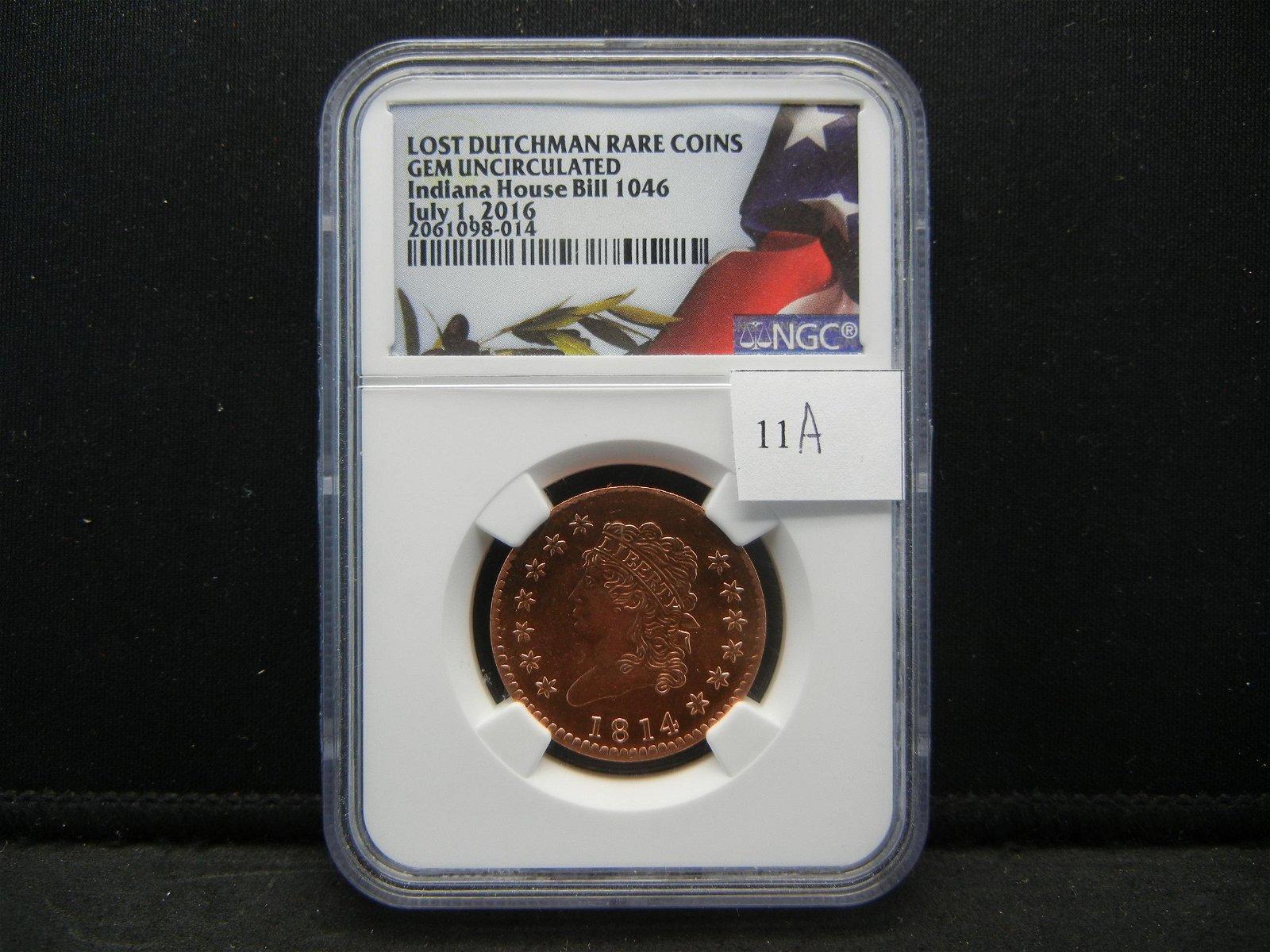 Lost Dutchman Rare Coins Gem Unc Commemorative Coin
