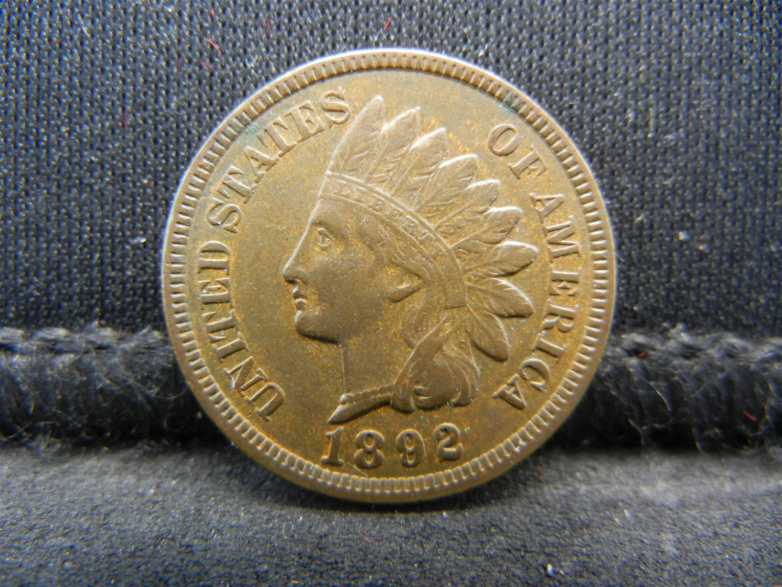 1892 United States Indian Head Penny Cent