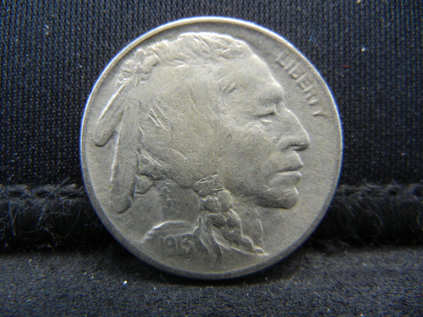 1913 Type 2 United States Buffalo Head Indian Nickel