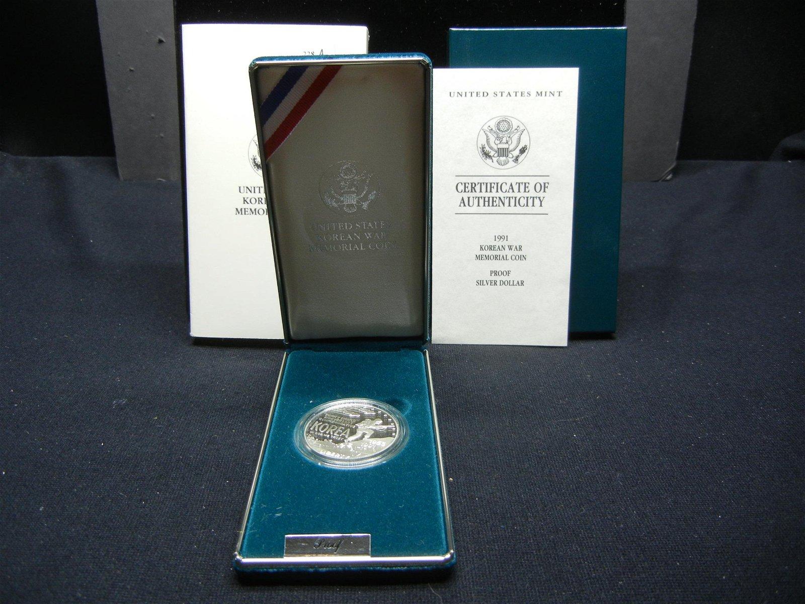 1991 United States Korean War Memorial Proof Silver