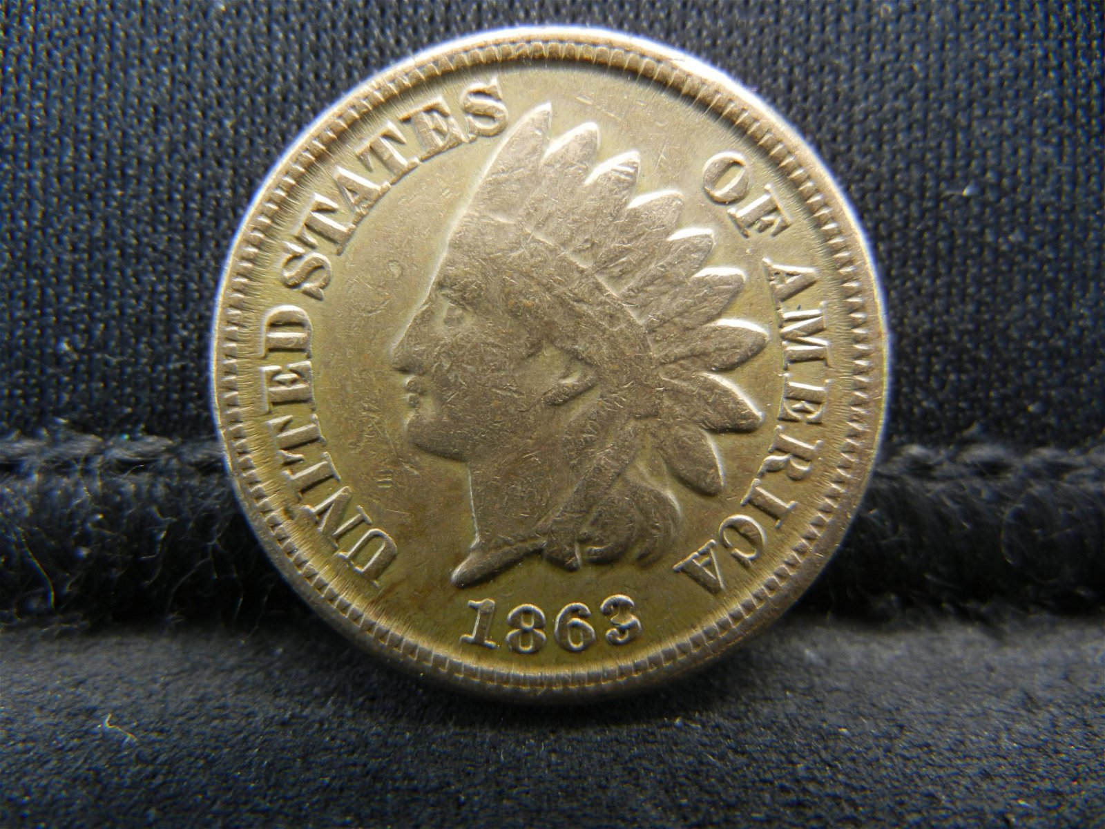 1863 United States Indian Head Penny Cent VF Cond -