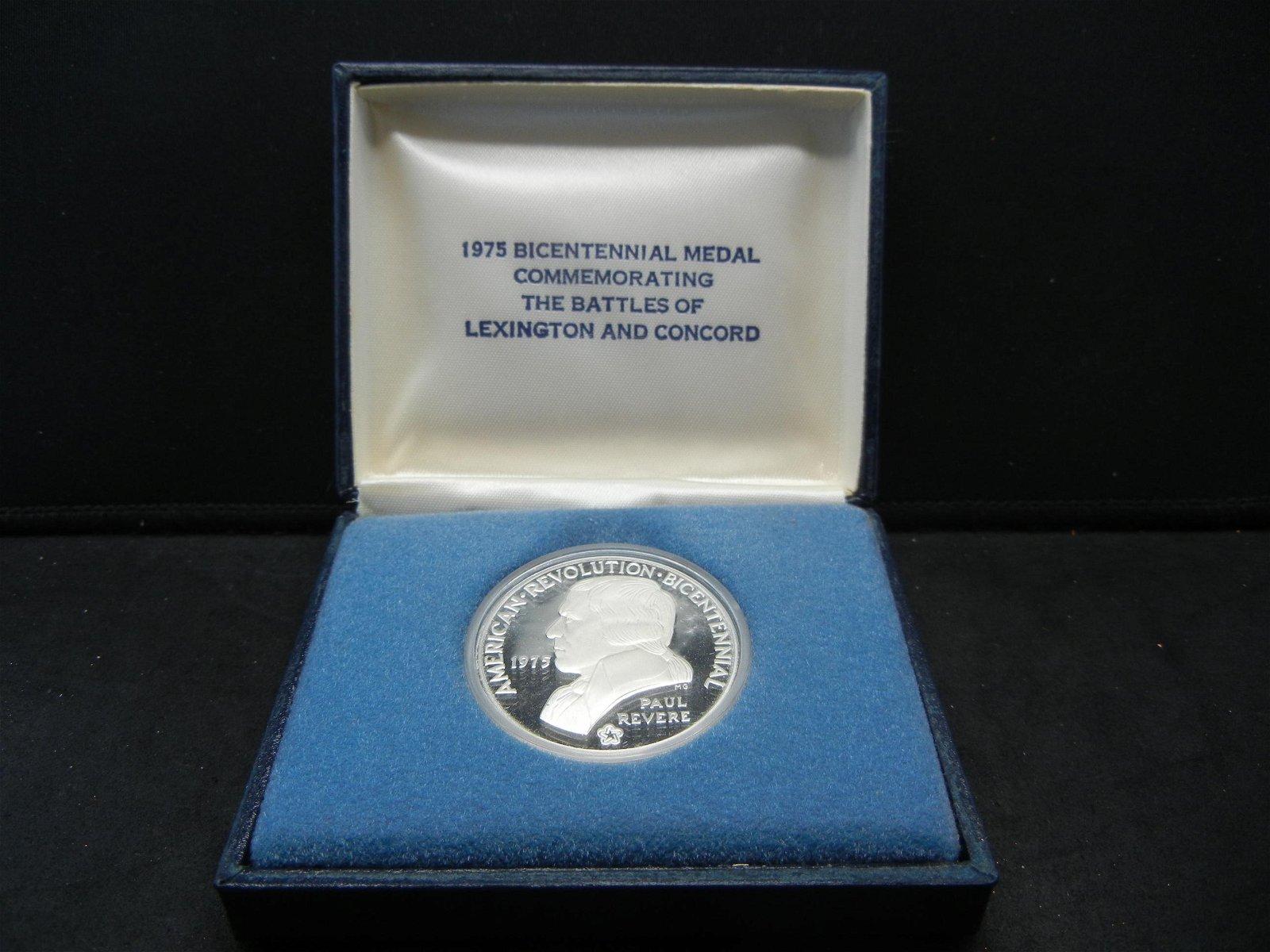 1975 .925 Silver Paul Revere US Mint medal