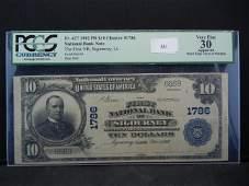 1902 - $10 Sigourney, IA Charter #1786 PCGS VF30