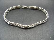 Seveninch sterling bracelet  Chain link design