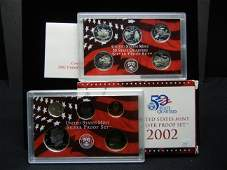 2002 US Mint Silver Proof Set  90 Silver Coins