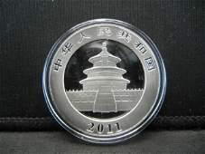 2011 Chinese Panda 1oz Silver Gem BU