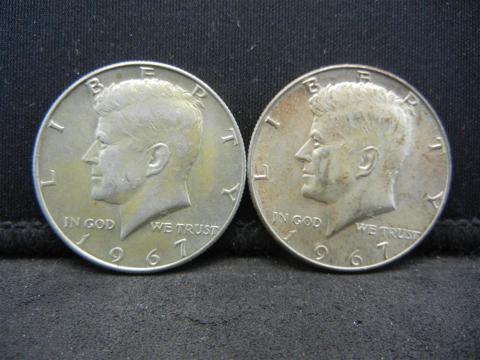 (2) 1967 Kennedy Half Dollars