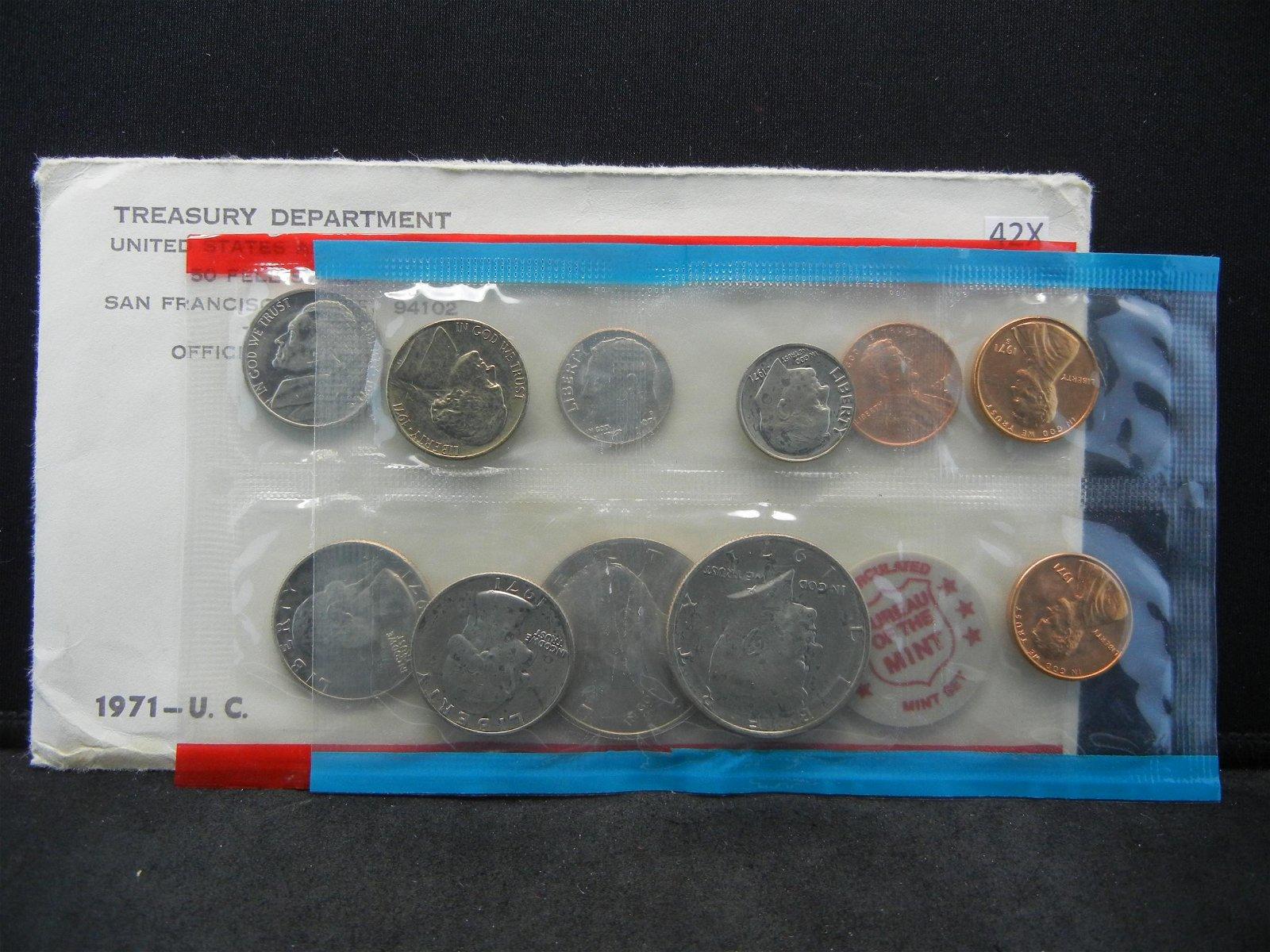 1971 PD US Mint Year Sets