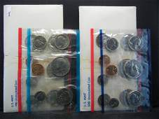 1980 & 1981 United States 13 Coin Mint Sets With
