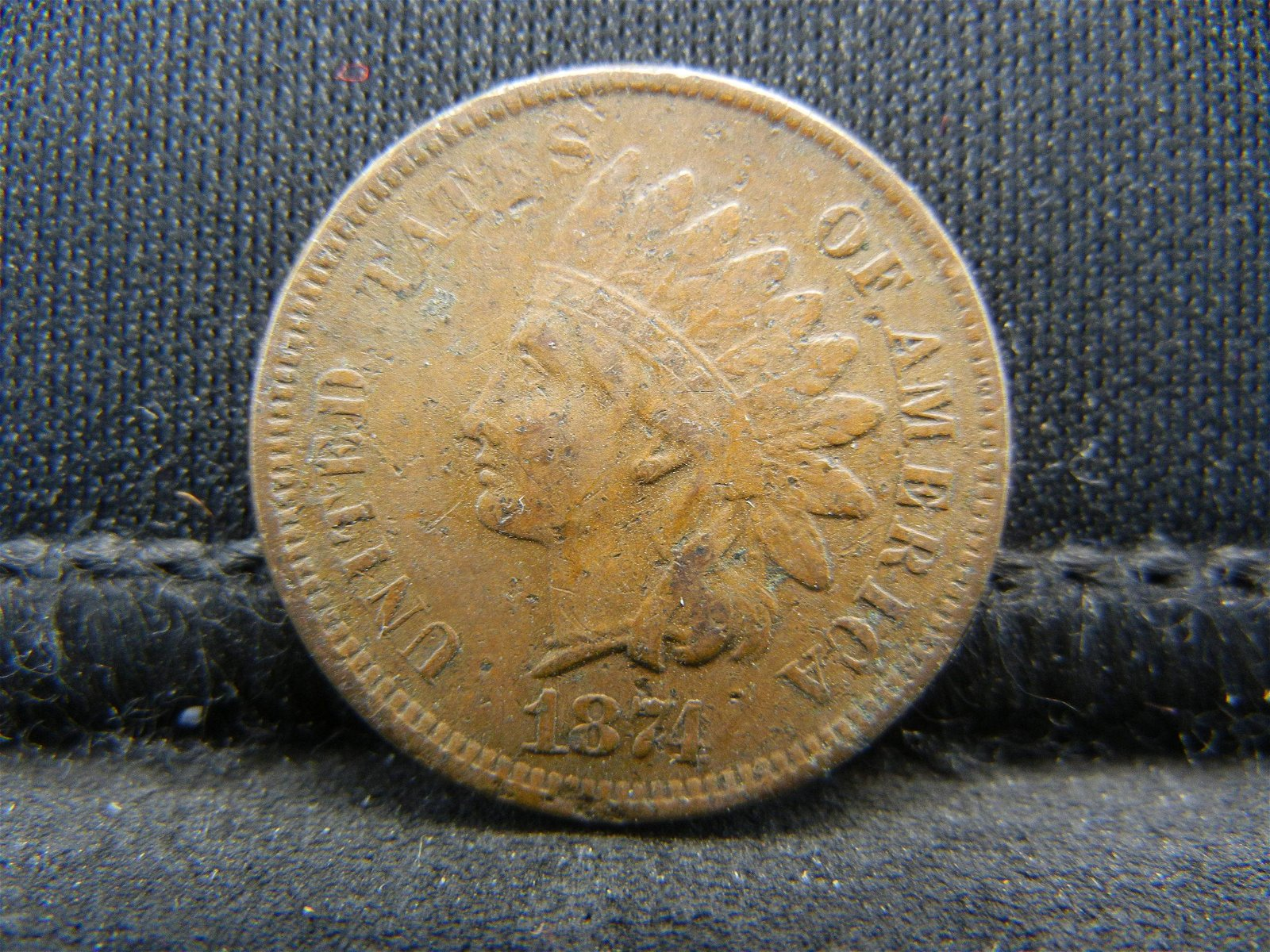 1874 United States Indian Head Penny Cent