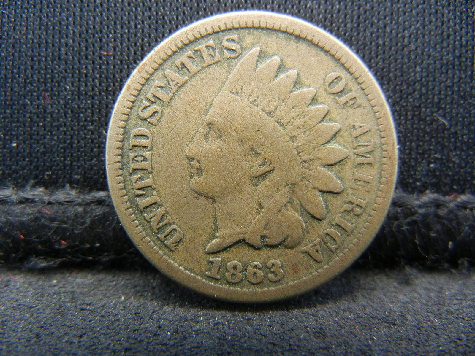 1863 United States Indian Head Penny Cent