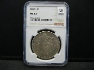 1890 Morgan Dollar NGC MS61