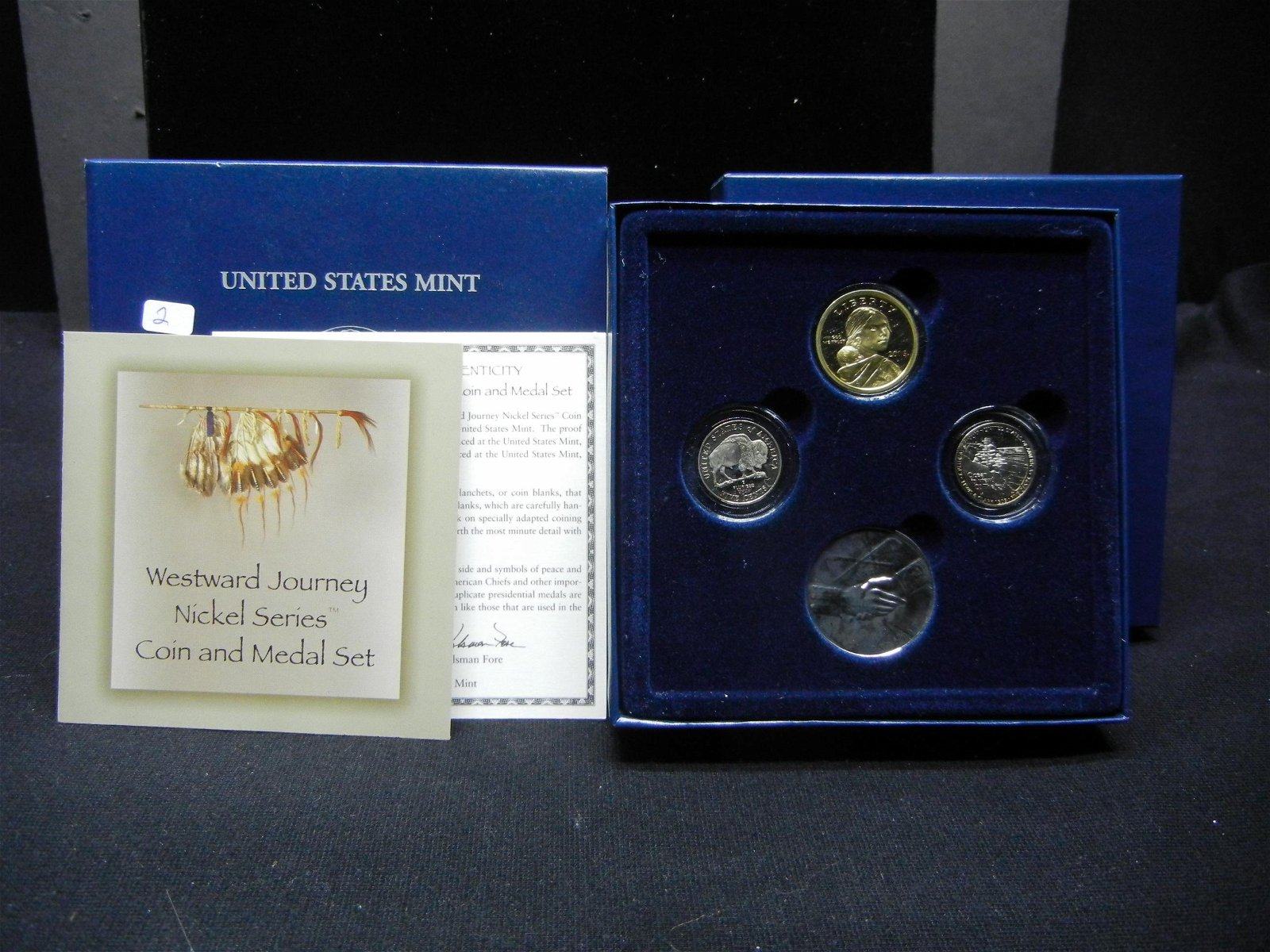 2005-S Westward Journey Coin and Medal Set.  2005-S