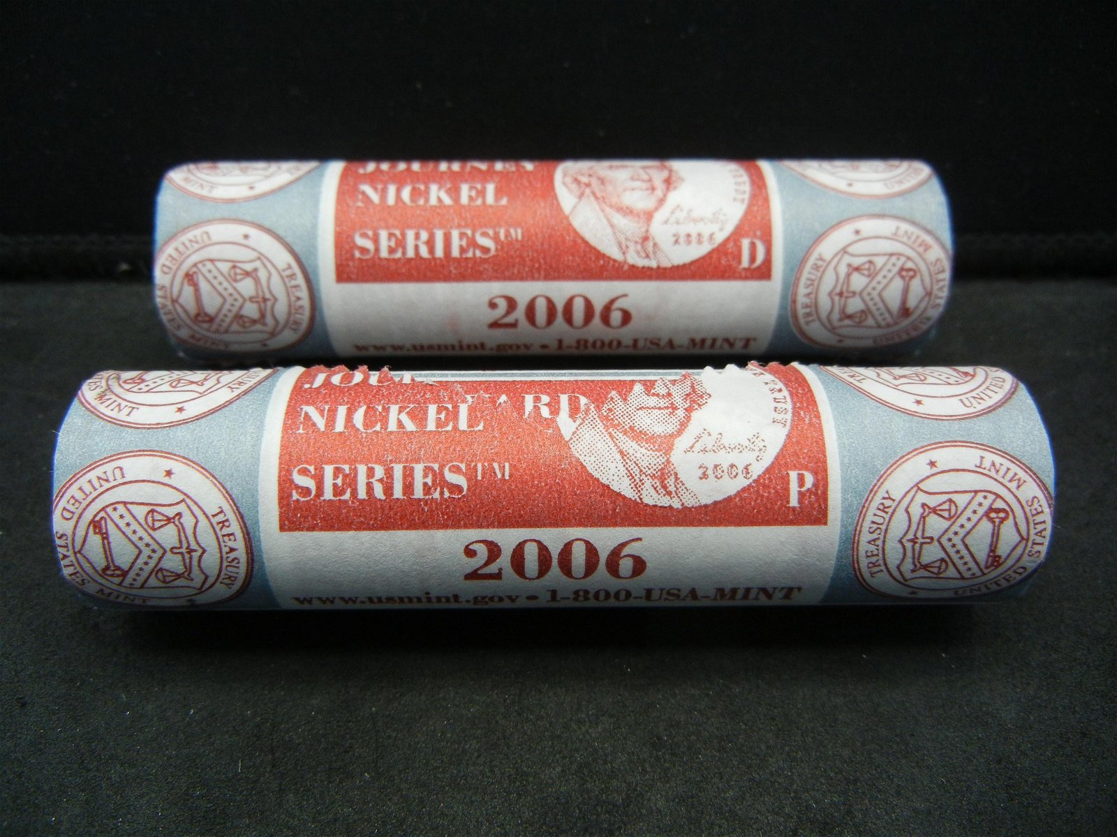 2006 P and D Mint Wrapped Rolls of Westward Journey