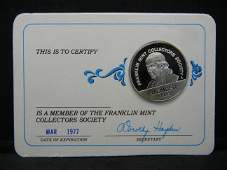 Franklin Mint Collectors Society Sterling Silver Round