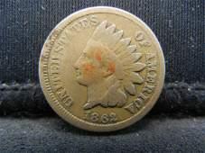 1862 CN Indian Head Cent. Civil War Year.