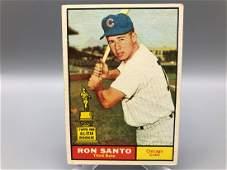 1961 Topps Ron Santo 35 Rookie Card