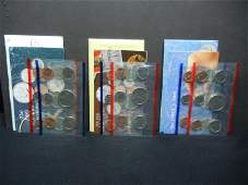 1989 1990 1991 United States 10-Coin Mint Sets With