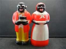 Vintage FF Aunt Jemima Uncle Moses Salt and Pepper