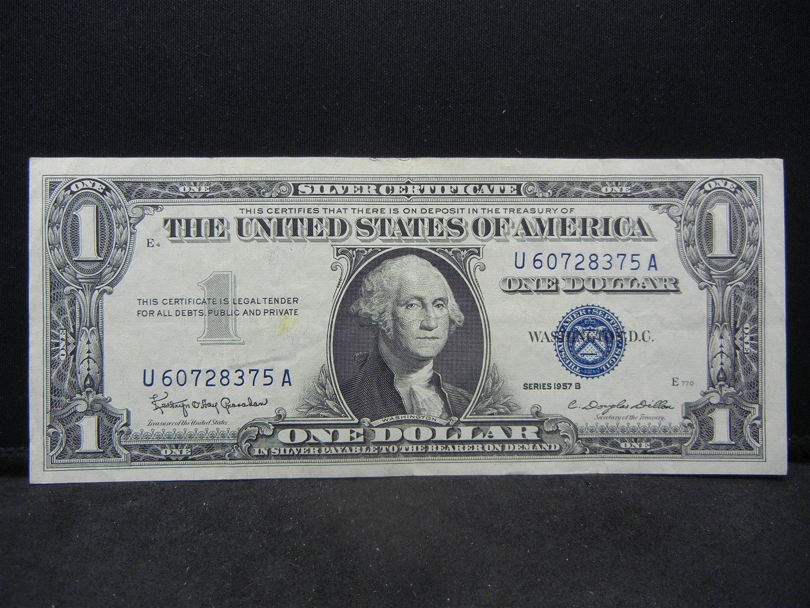 Series 1957 B United States $1.00 Silver Certificate