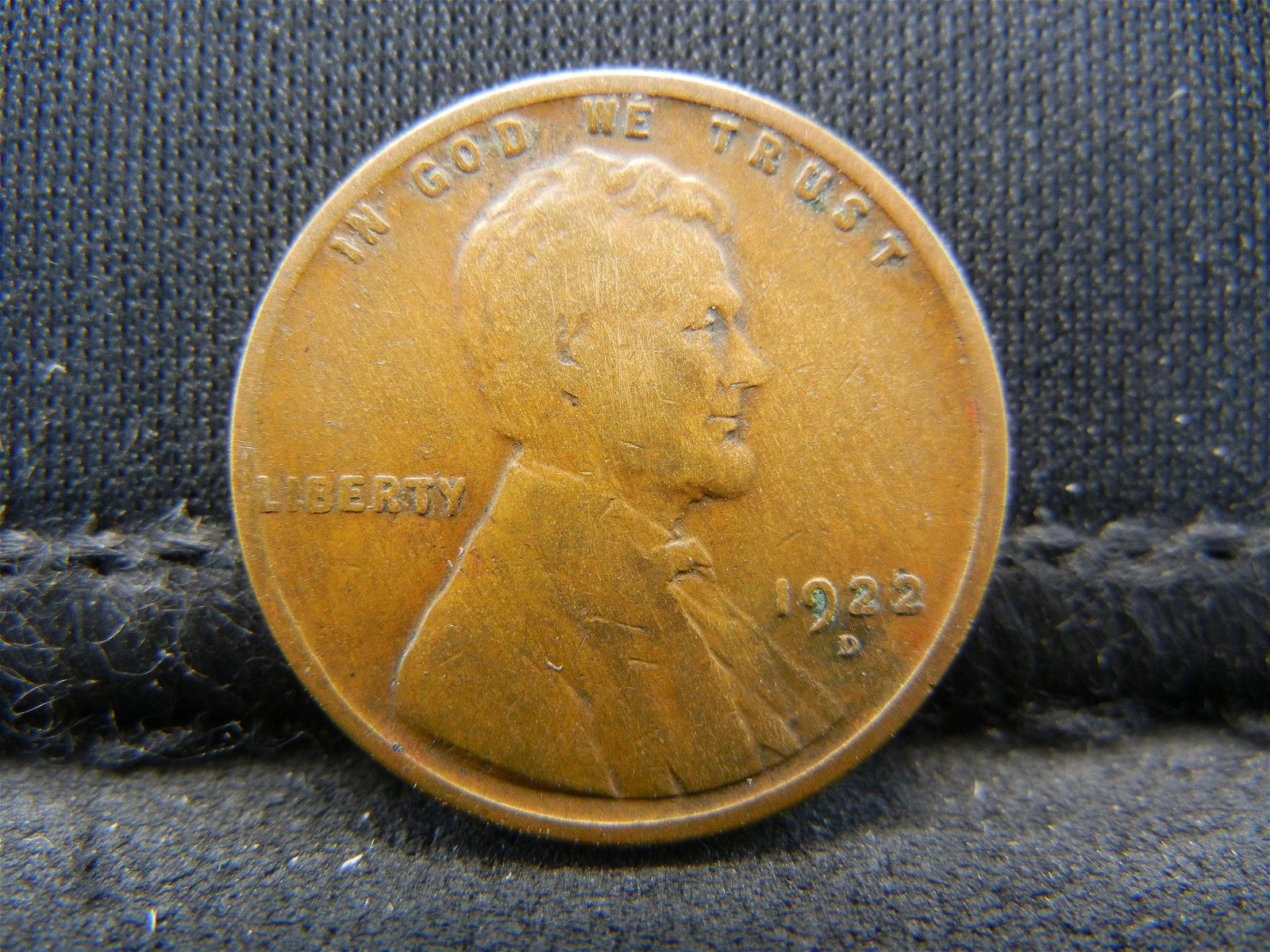 1922-D United States Lincoln Wheat Penny Cent