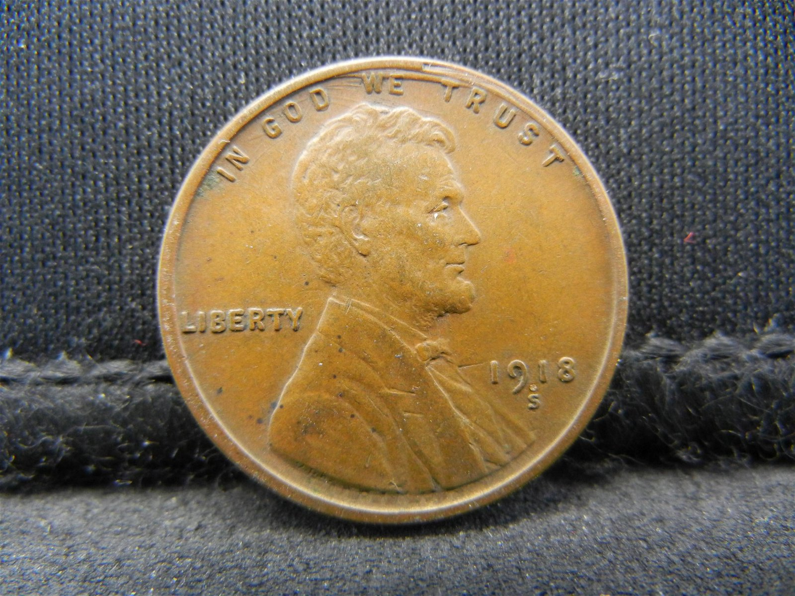 1918-S United States Lincoln Wheat Penny Cent