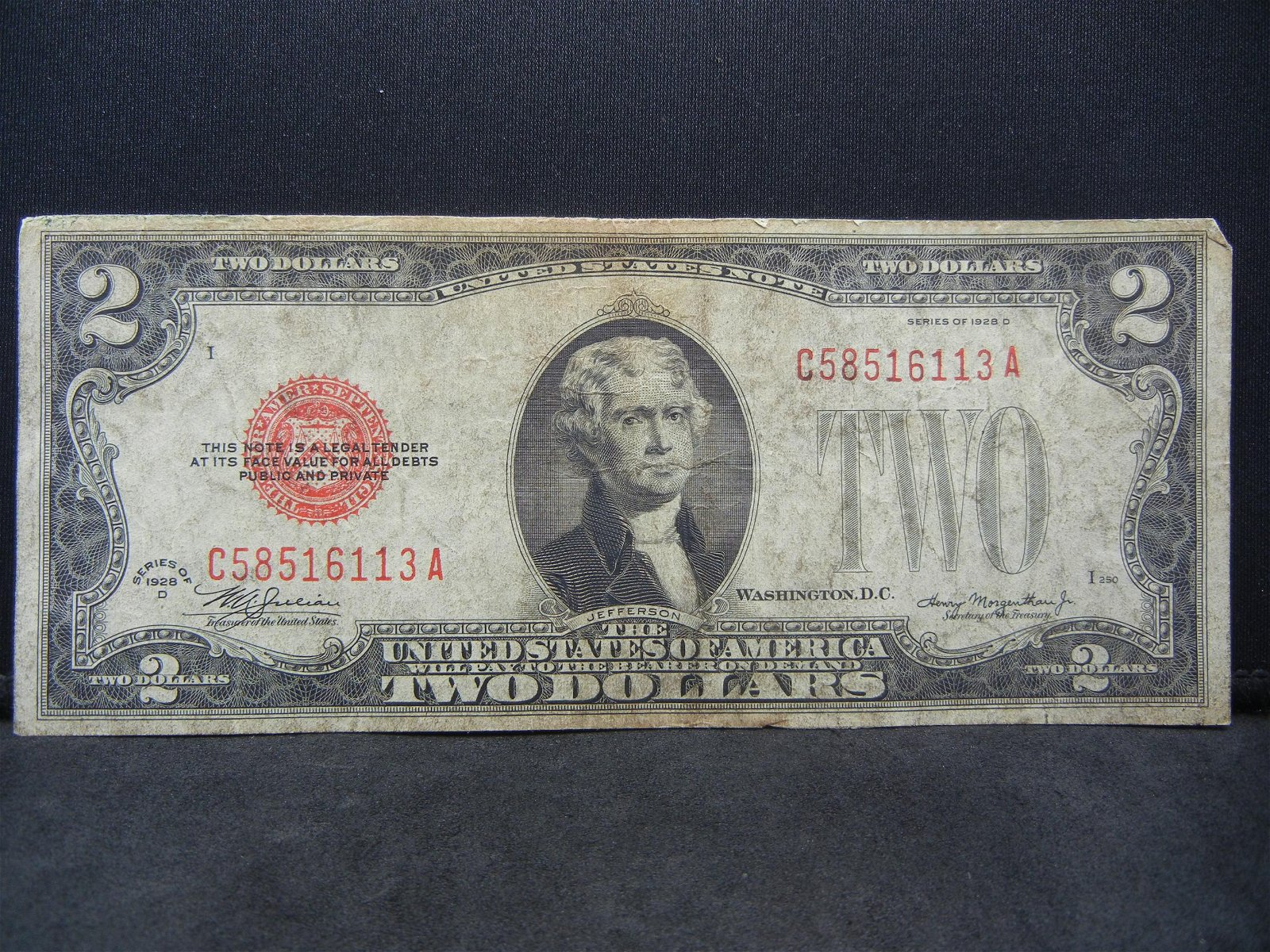 1928 $2.00 Red Seal Note