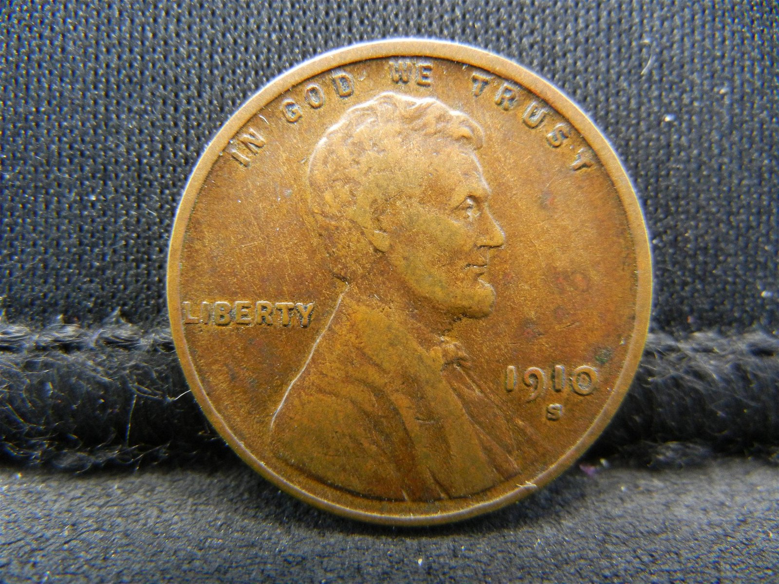 1910-S United States Lincoln Wheat Penny Cent