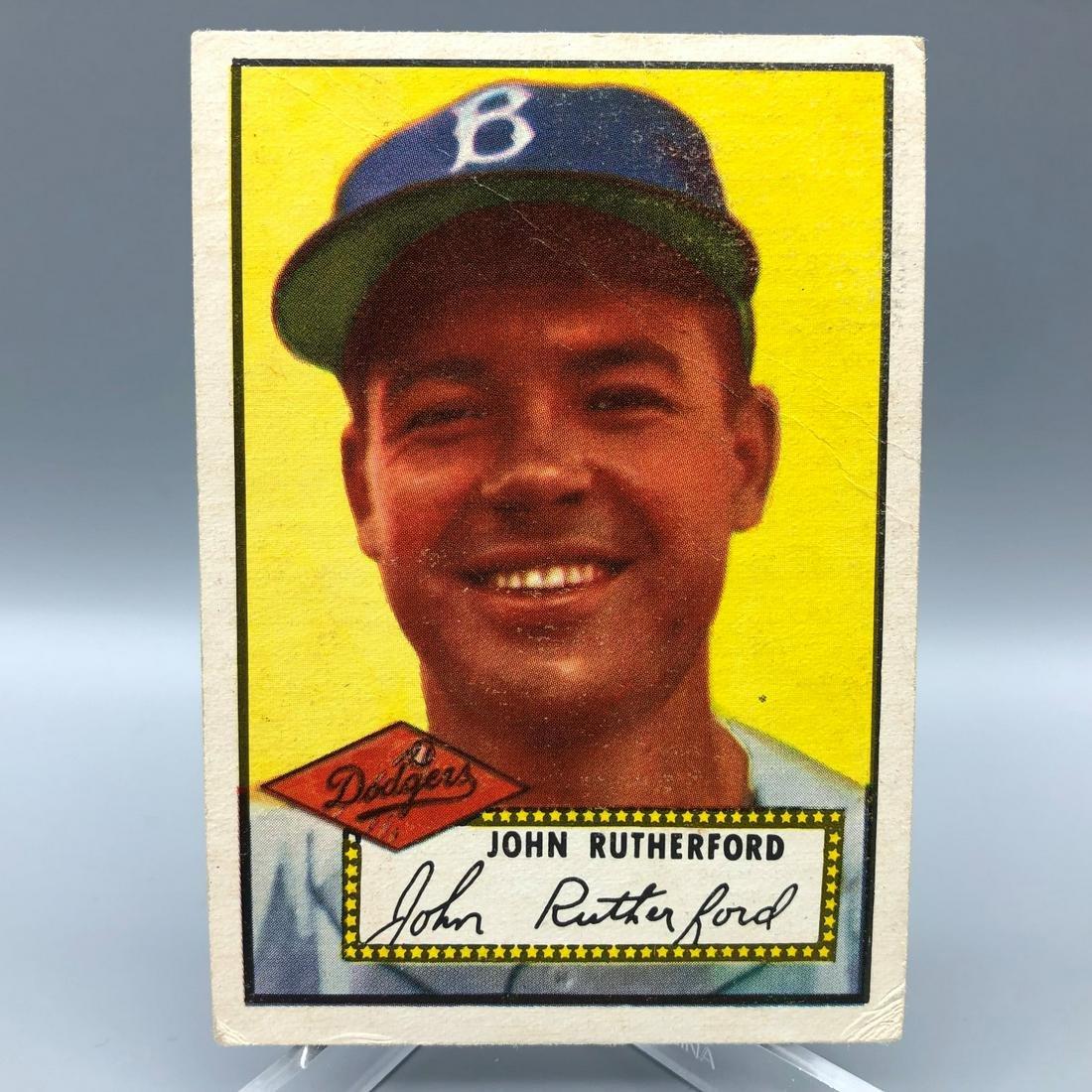 1952 Topps John Rutherford #320 RARE High Number