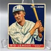 1933 Goudey Travis Jackson #102 HOF