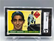 1955 Topps Sandy Koufax Rookie #123 SGC 5 HOF Nice
