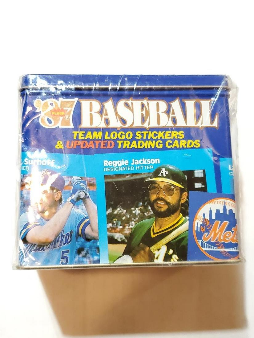 1987 Fleer Update Baseball Sealed Tin Glossy Set -