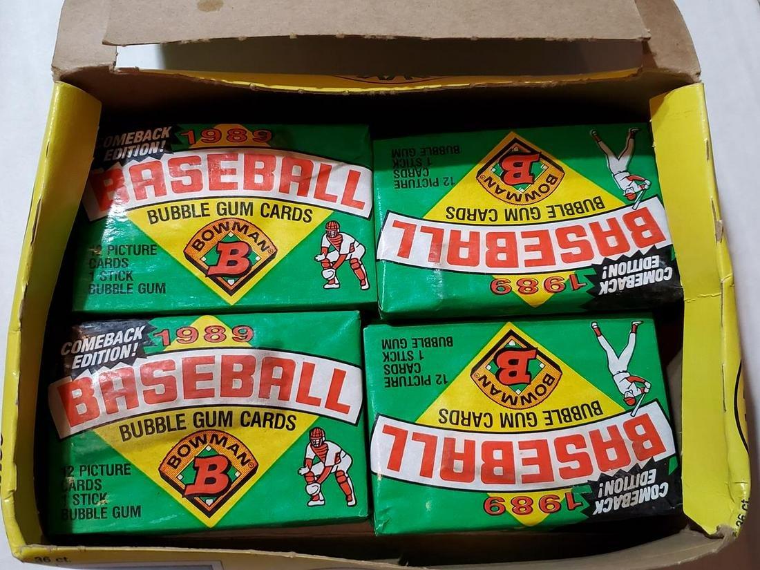 1989 Bowman Baseball Partial Wax Box 20/36 - Possible