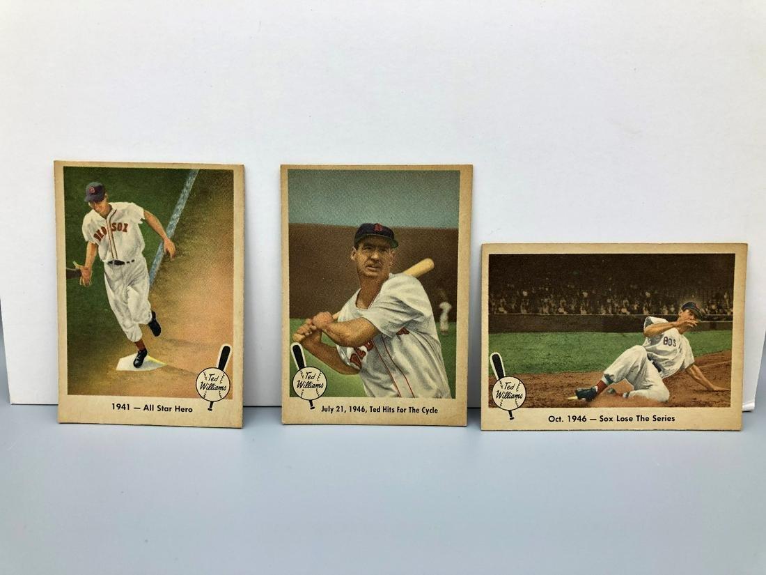 lot of 3 1959 Fleer Ted Williams #18,29,31