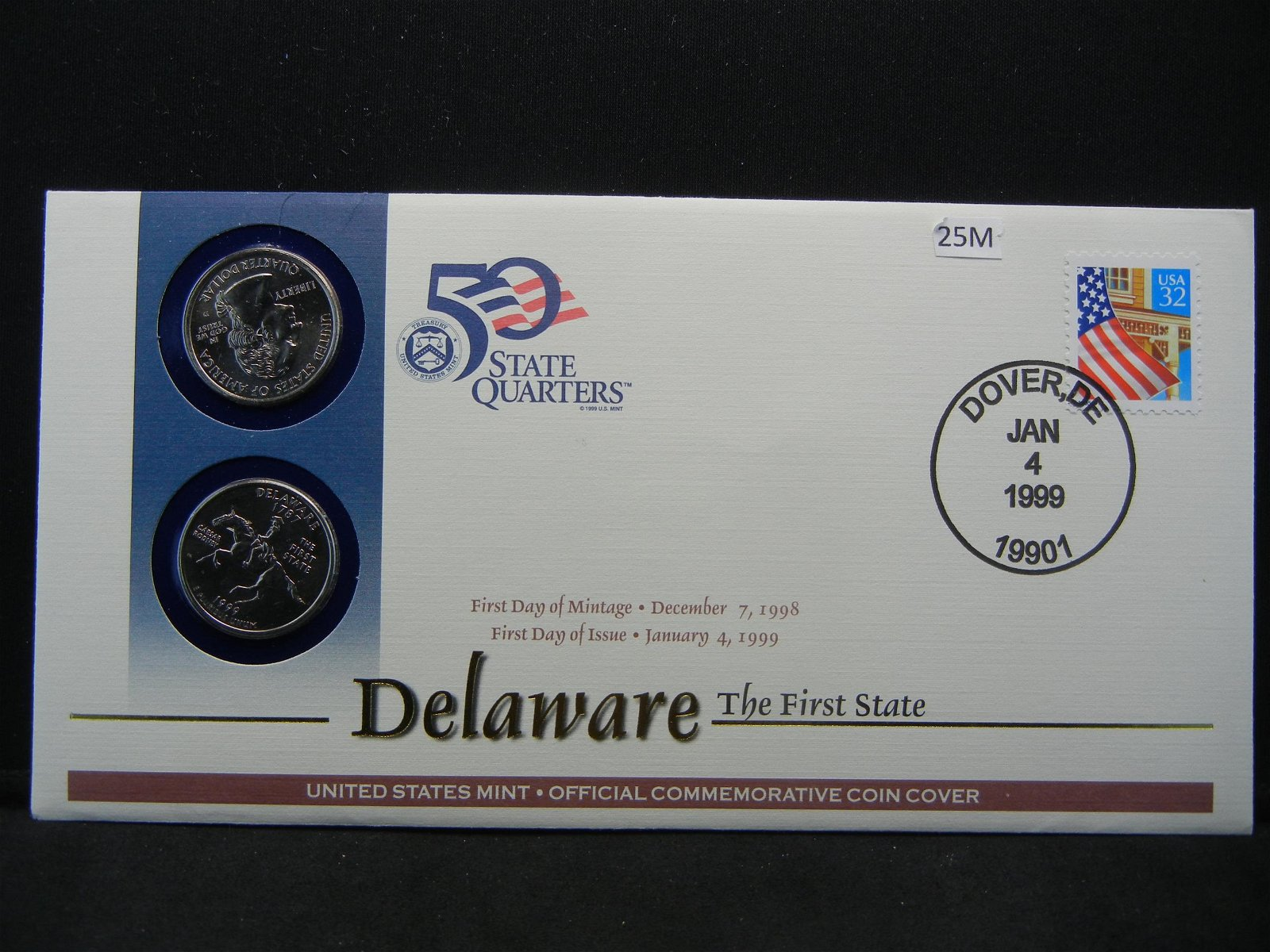 1999 United States Mint First Day of Issue Coin and