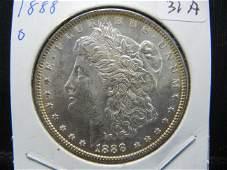 1988-O Morgan Dollar. Choice white BU. MS 63.