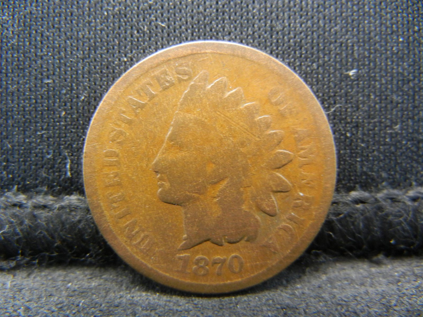 1870 United States Indian Head Penny Cent