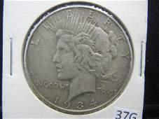 1934 Silver Peace Dollar - 90% Silver