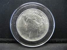 1922 Silver Peace Dollar - 90% Silver - High Grade -