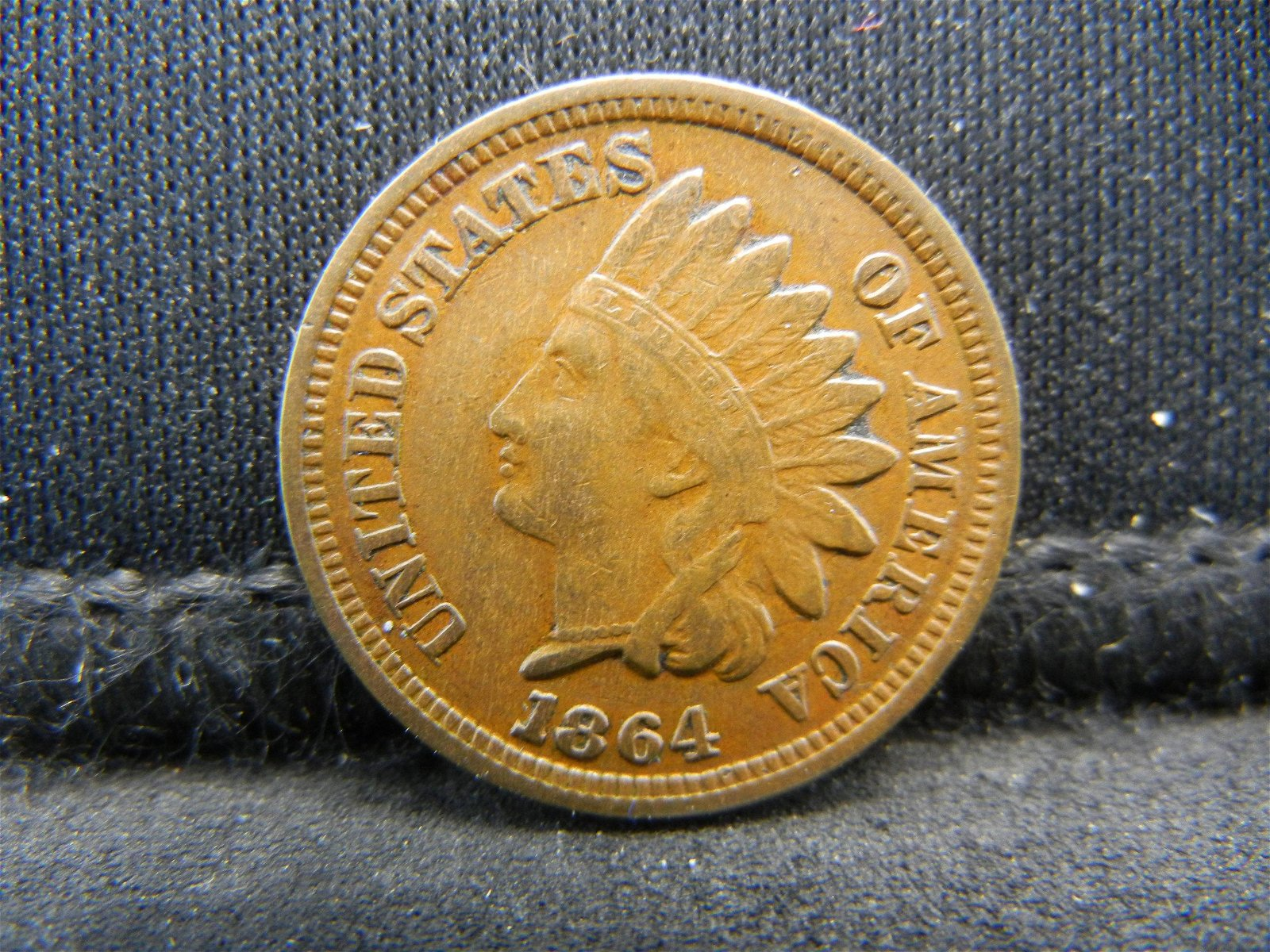 1864 United States Indian Head Penny Cent - VF - Civil