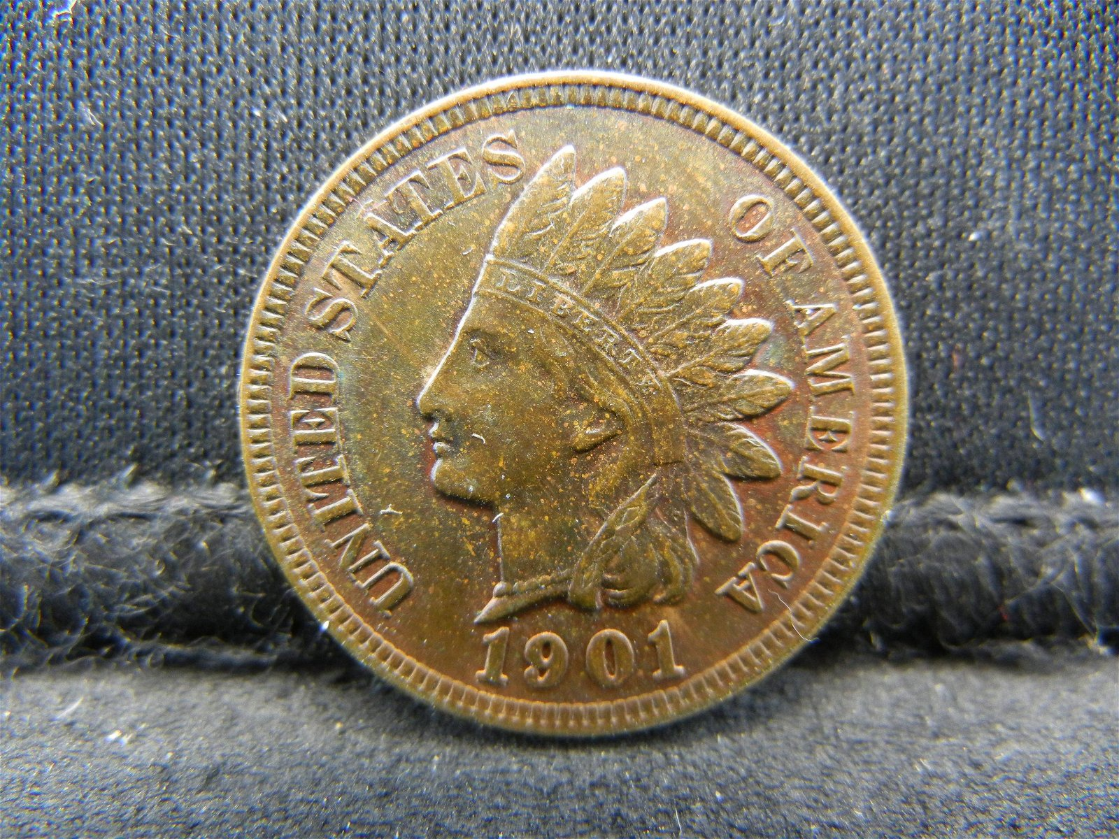 1901 United States Indian Head Penny Cent Higher Grade