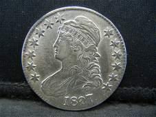 1827 Capped Bust half Dollar AU Flashy !!
